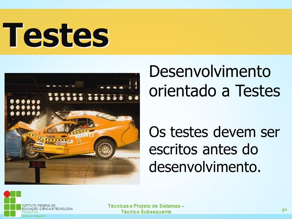 Testes Desenvolvimento orientado a Testes