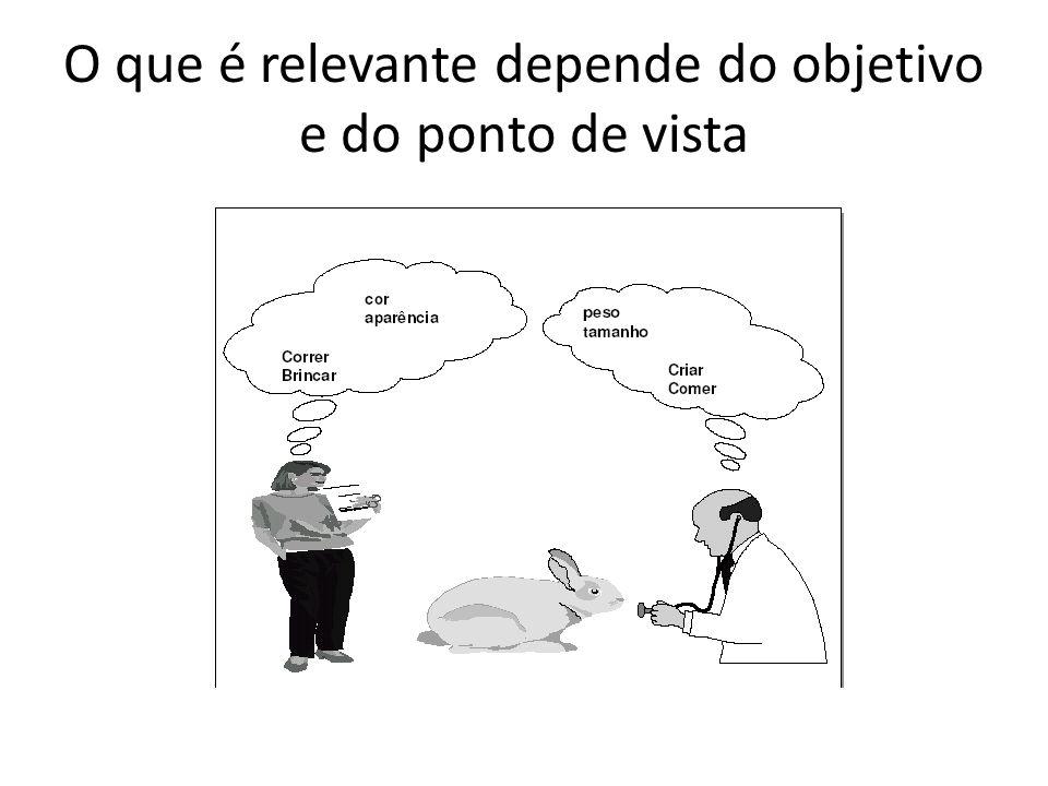 O que é relevante depende do objetivo e do ponto de vista