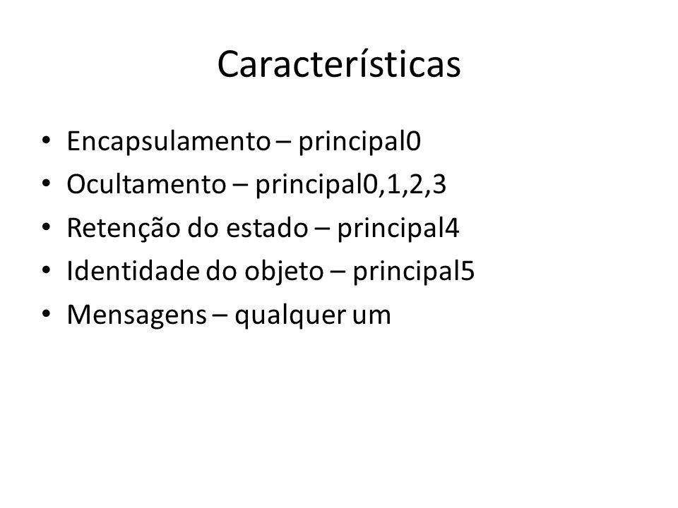 Características Encapsulamento – principal0