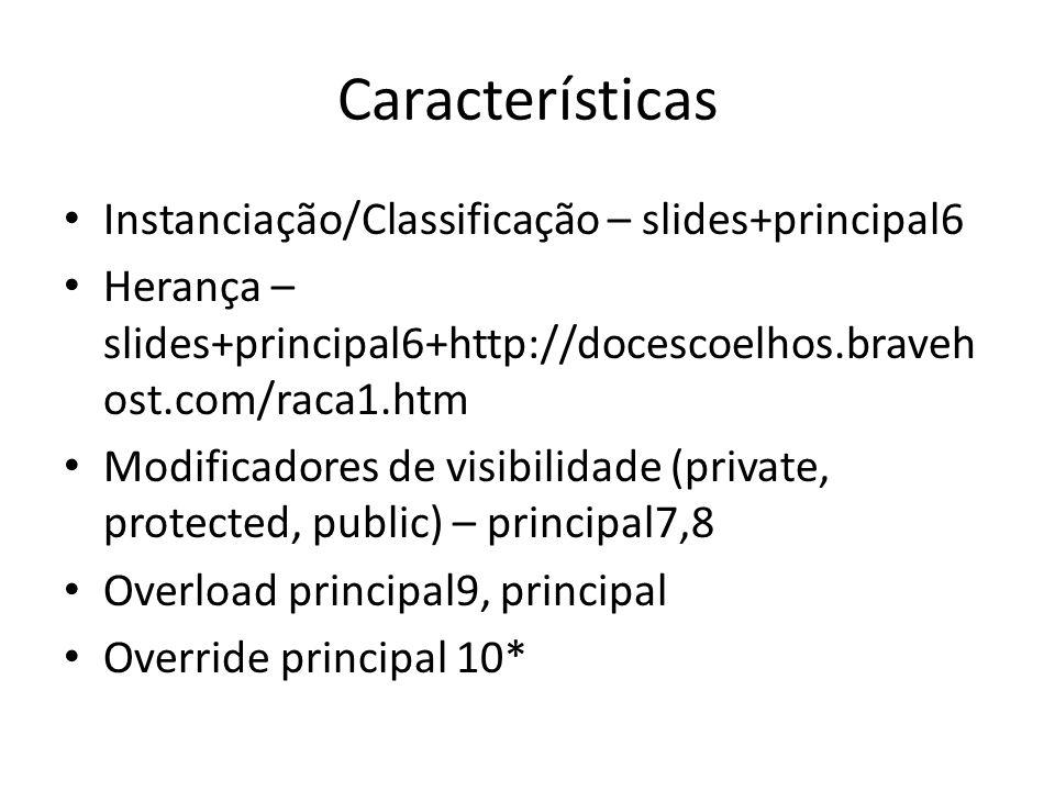 Características Instanciação/Classificação – slides+principal6