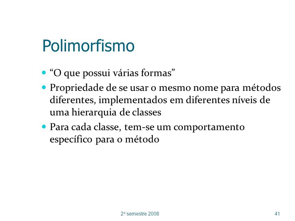 Polimorfismo O que possui várias formas