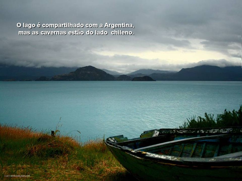 O lago é compartilhado com a Argentina,