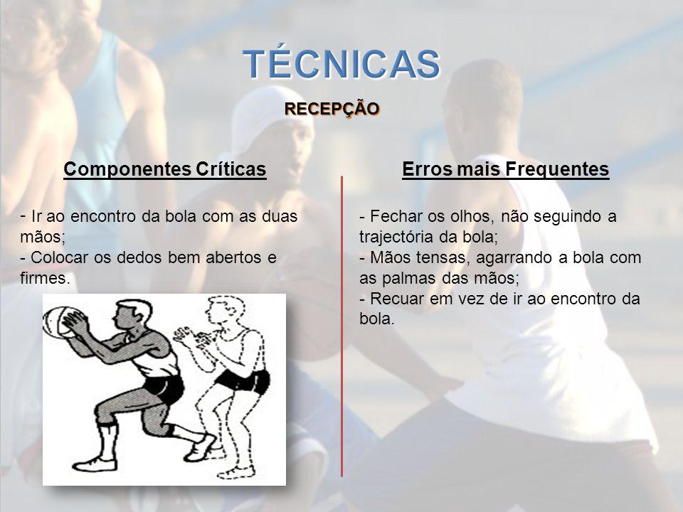 TÉCNICAS Componentes Críticas Erros mais Frequentes RECEPÇÃO
