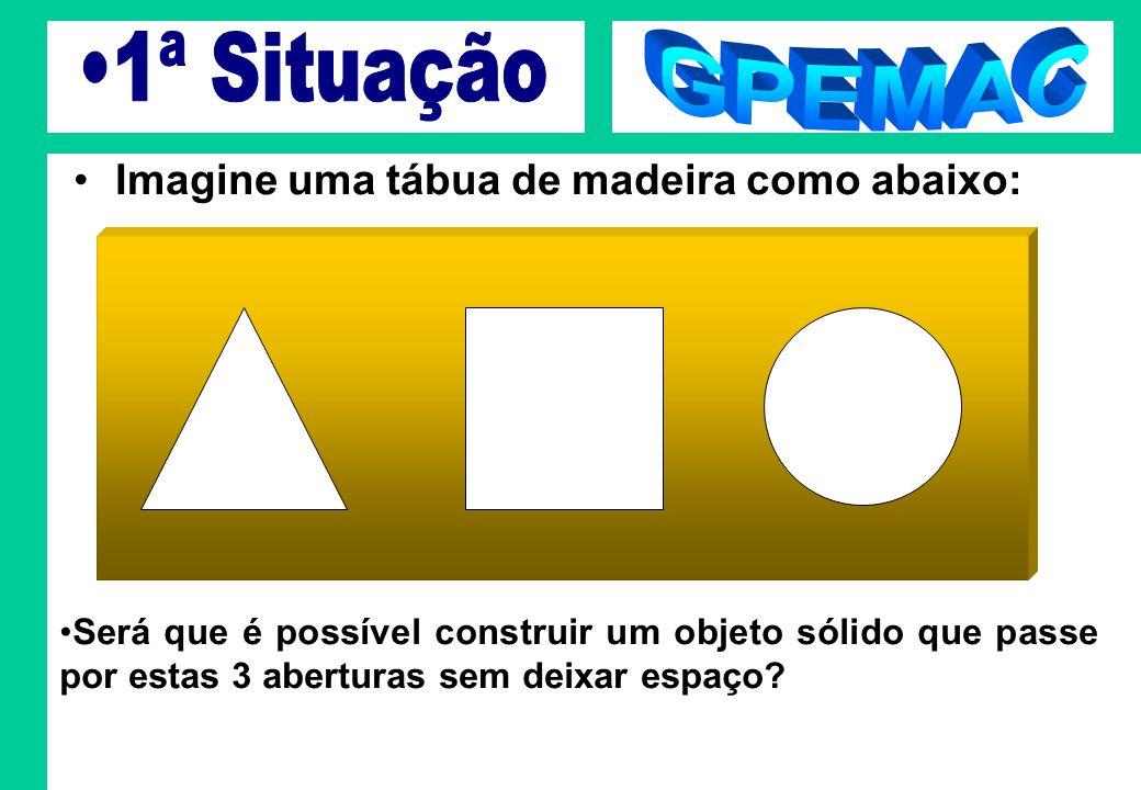 1ª Situação GPEMAC Imagine uma tábua de madeira como abaixo: