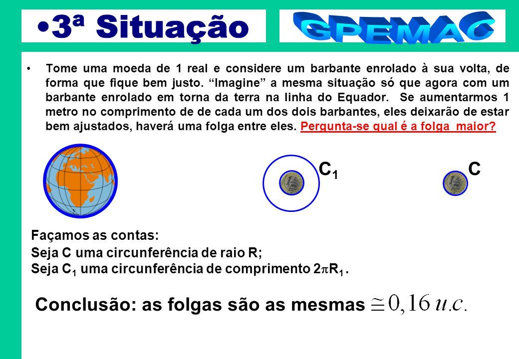 3ª Situação GPEMAC C1 C Conclusão: as folgas são as mesmas