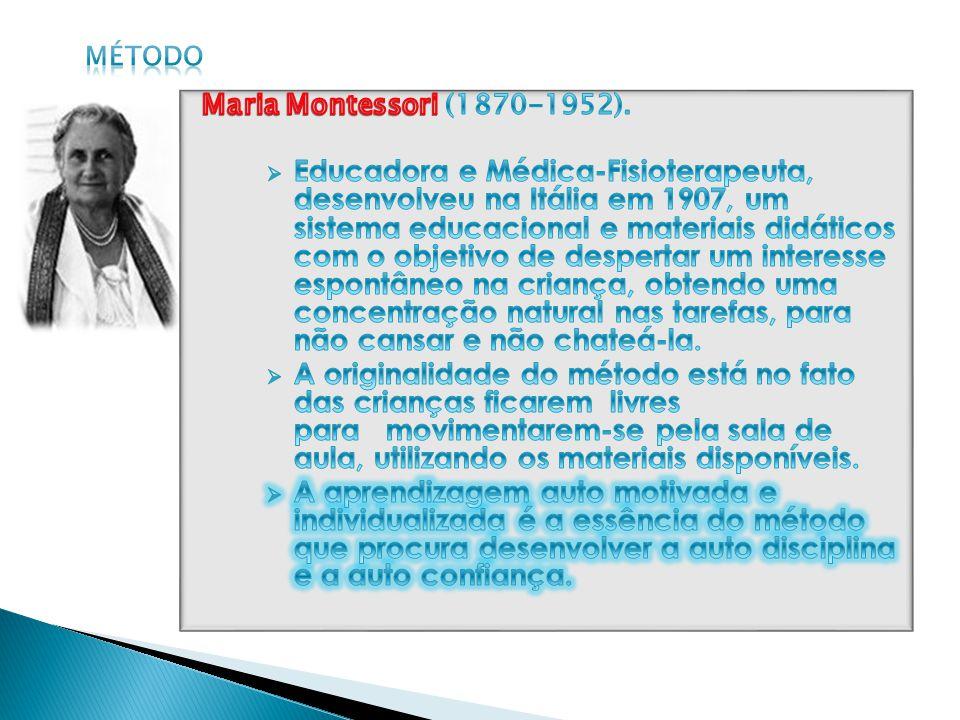 método Maria Montessori (1870-1952).