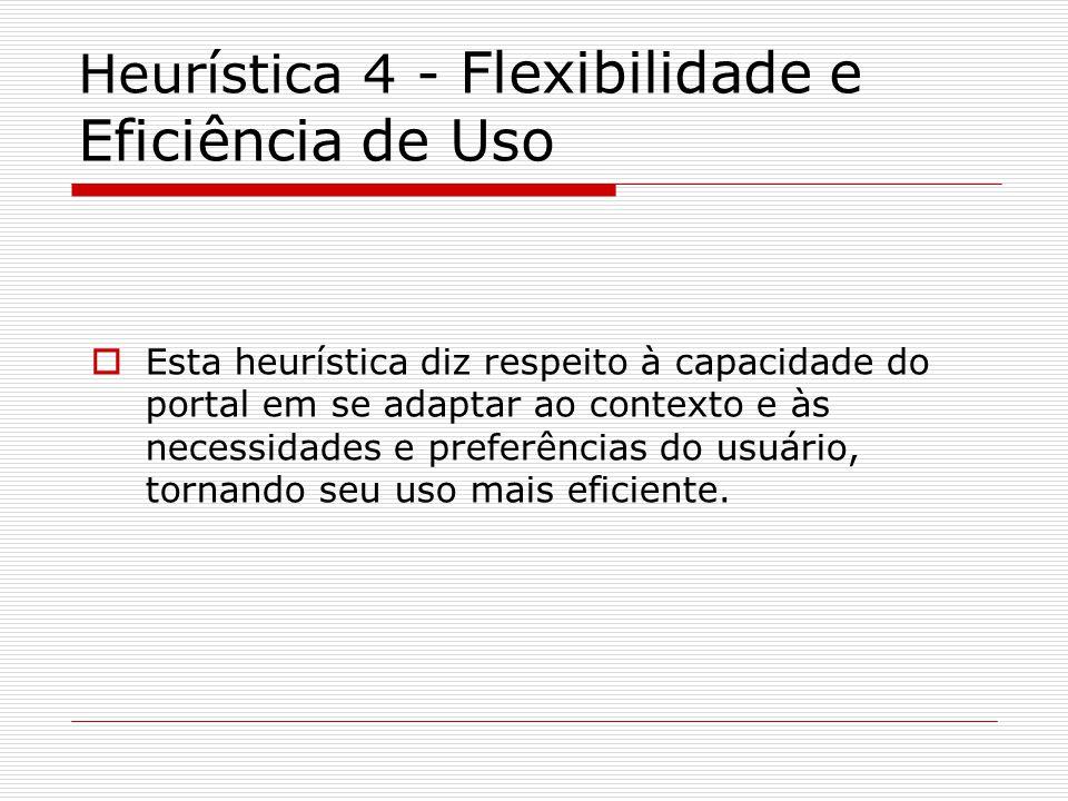 Heurística 4 - Flexibilidade e Eficiência de Uso