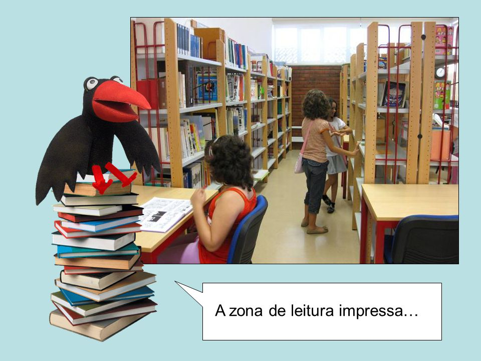 A zona de leitura impressa…