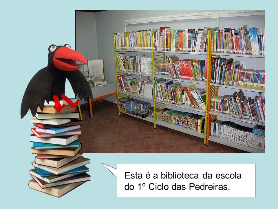 Esta é a biblioteca da escola do 1º Ciclo das Pedreiras.