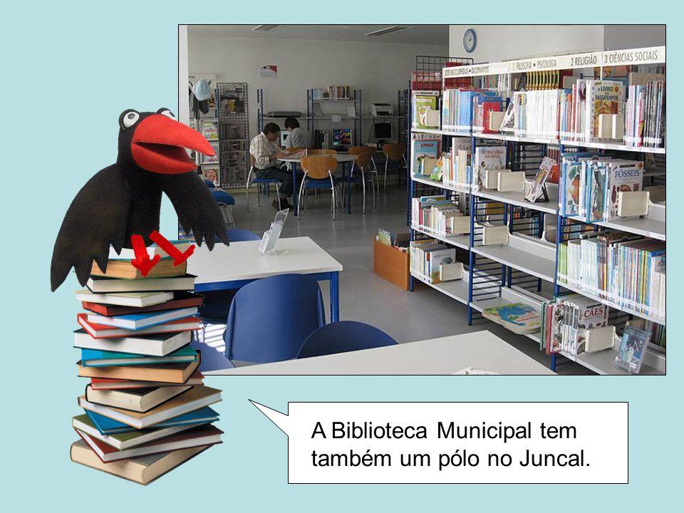 A Biblioteca Municipal tem também um pólo no Juncal.