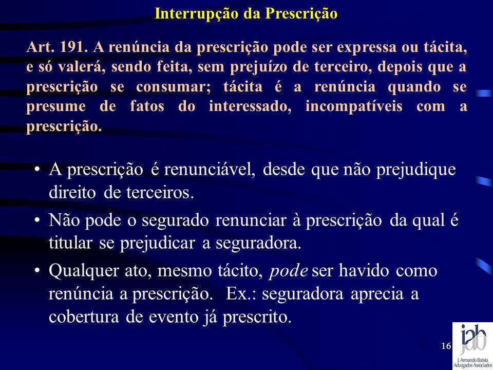 Interrupção da Prescrição