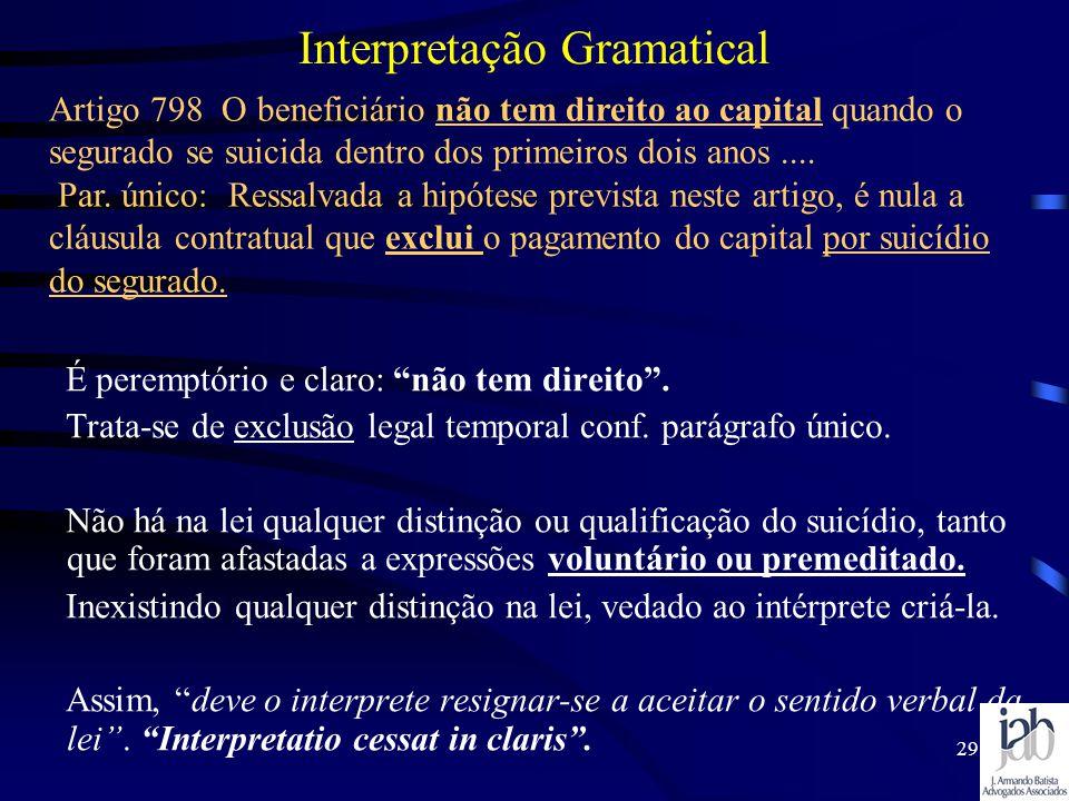 Interpretação Gramatical