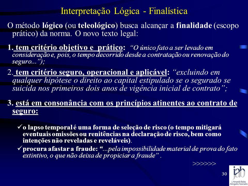 Interpretação Lógica - Finalística