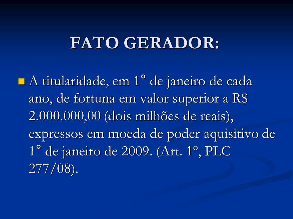 FATO GERADOR: