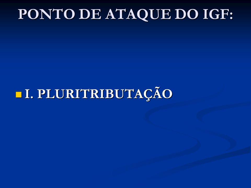 PONTO DE ATAQUE DO IGF: I. PLURITRIBUTAÇÃO