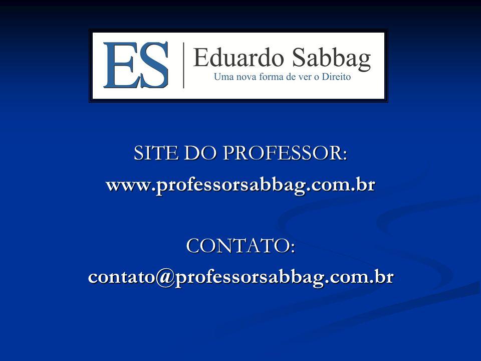 SITE DO PROFESSOR: www.professorsabbag.com.br CONTATO: contato@professorsabbag.com.br