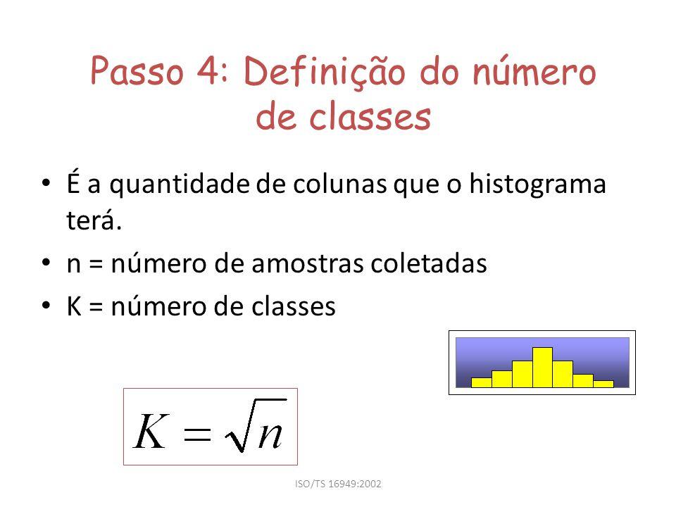 Passo 4: Definição do número de classes