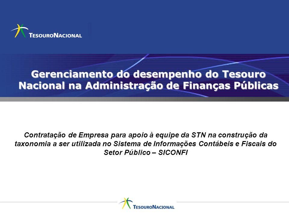 Gerenciamento do desempenho do Tesouro Nacional na Administração de Finanças Públicas
