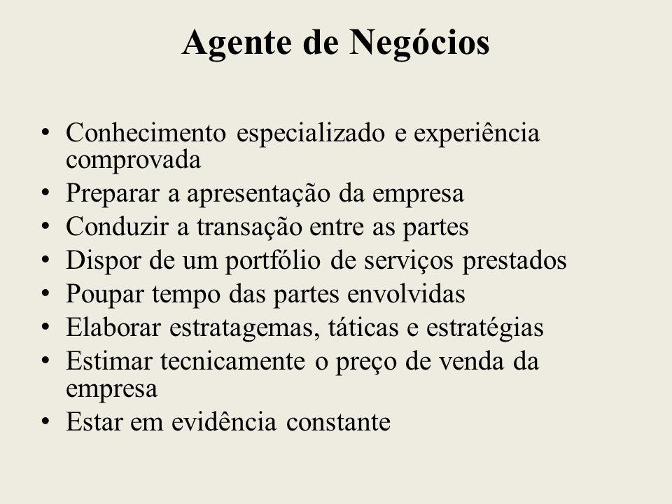Agente de Negócios Conhecimento especializado e experiência comprovada