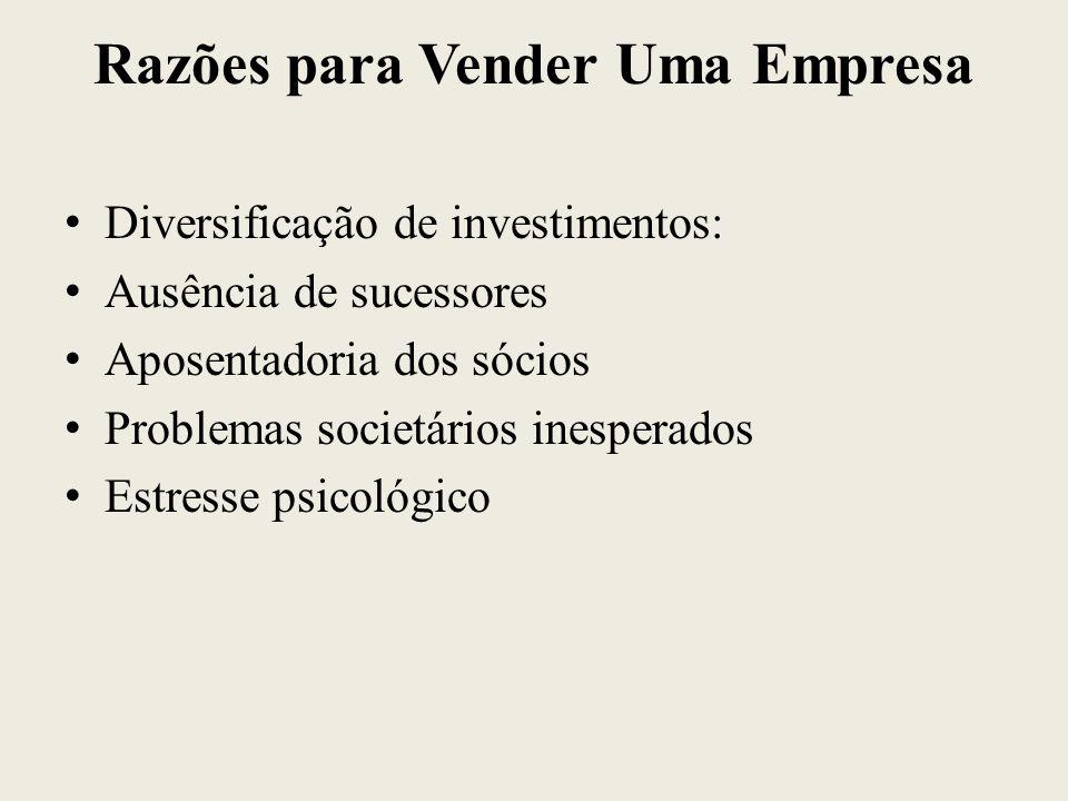 Razões para Vender Uma Empresa