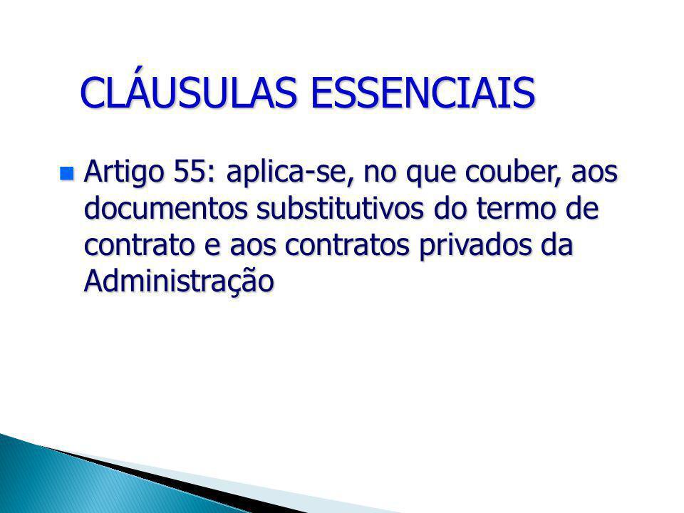 CLÁUSULAS ESSENCIAIS