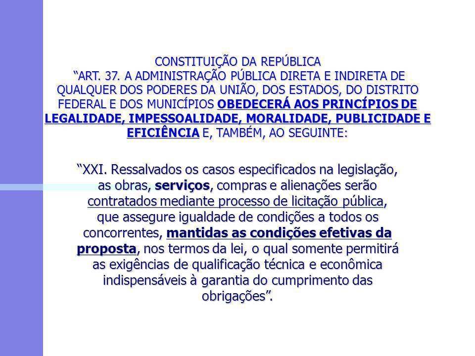 CONSTITUIÇÃO DA REPÚBLICA ART. 37