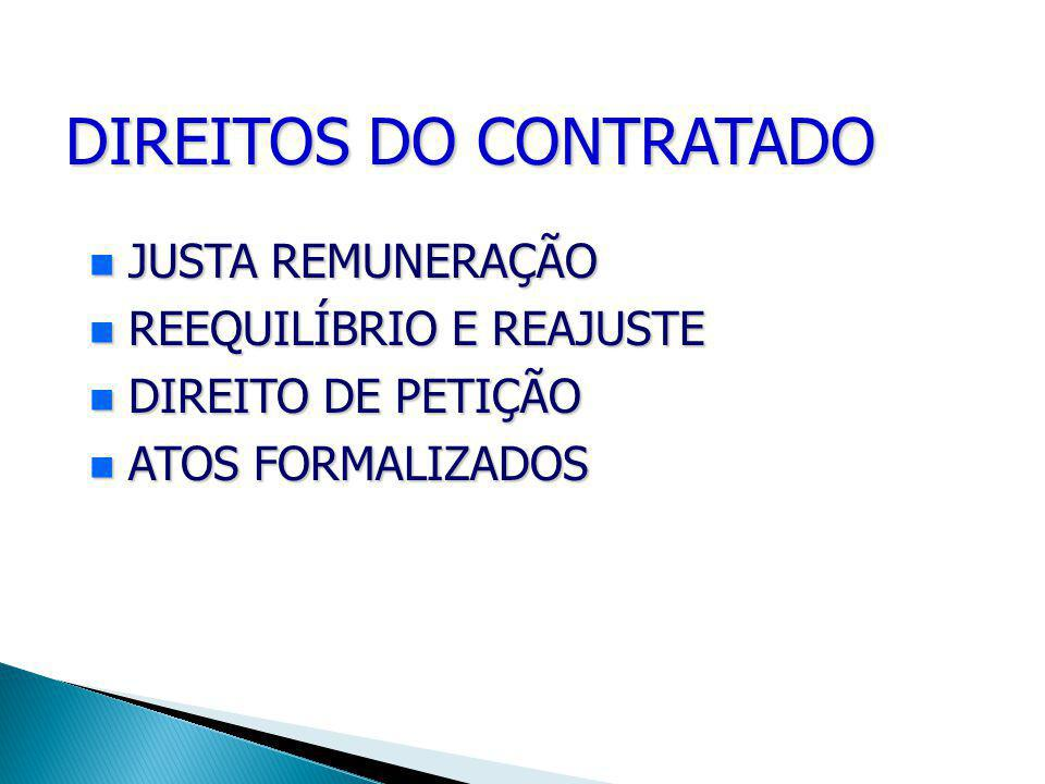 DIREITOS DO CONTRATADO