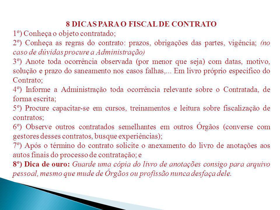 8 DICAS PARA O FISCAL DE CONTRATO