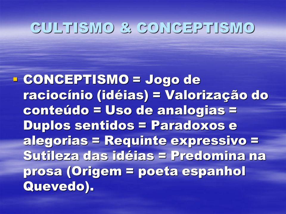 CULTISMO & CONCEPTISMO