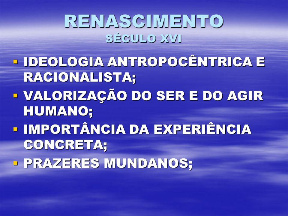 RENASCIMENTO SÉCULO XVI