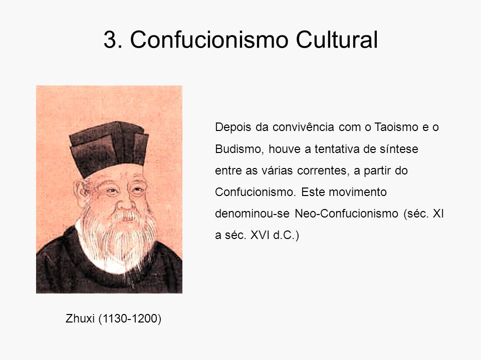 3. Confucionismo Cultural