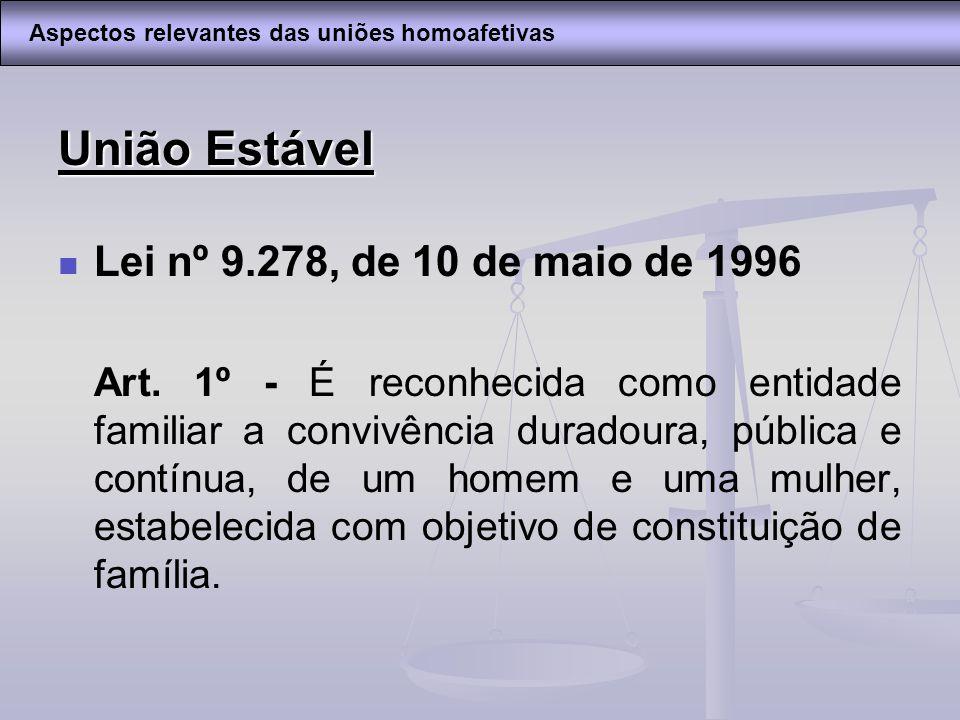 União Estável Lei nº 9.278, de 10 de maio de 1996