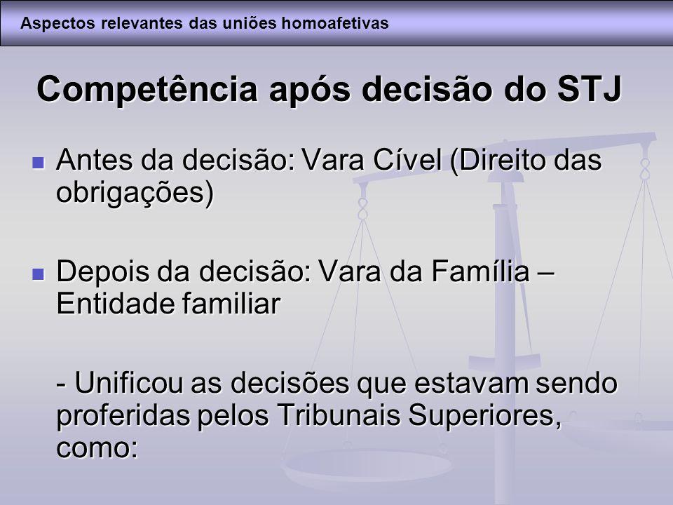 Competência após decisão do STJ