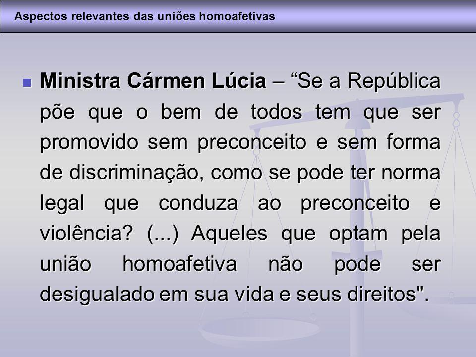 Aspectos relevantes das uniões homoafetivas
