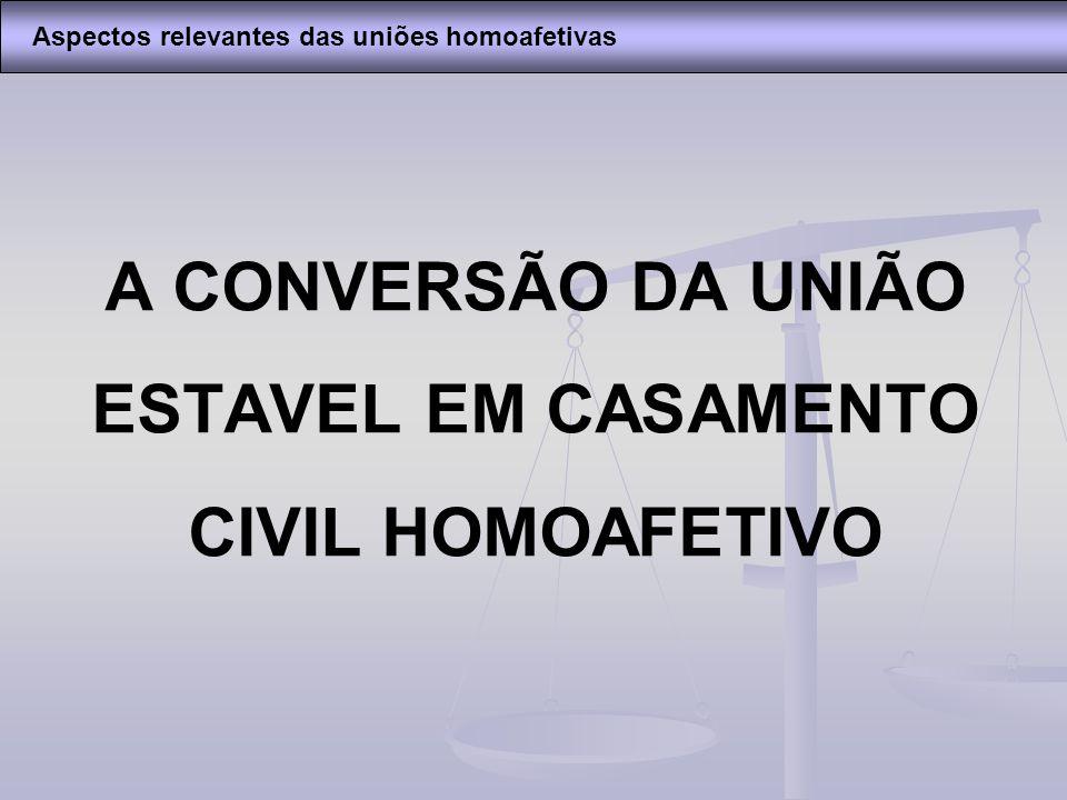 A CONVERSÃO DA UNIÃO ESTAVEL EM CASAMENTO CIVIL HOMOAFETIVO