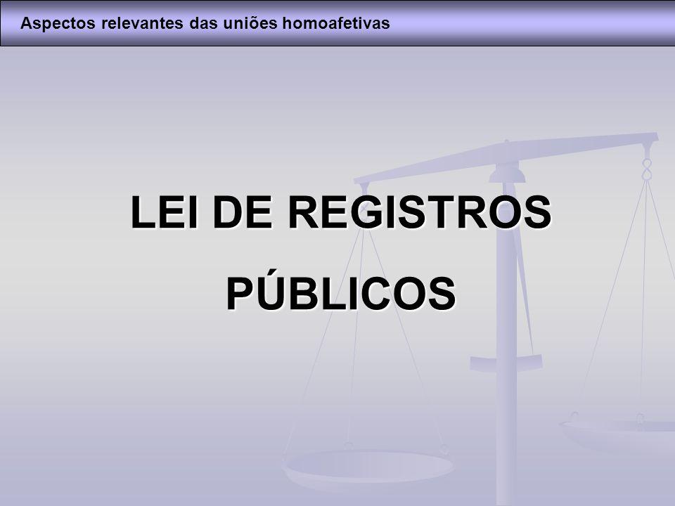 LEI DE REGISTROS PÚBLICOS