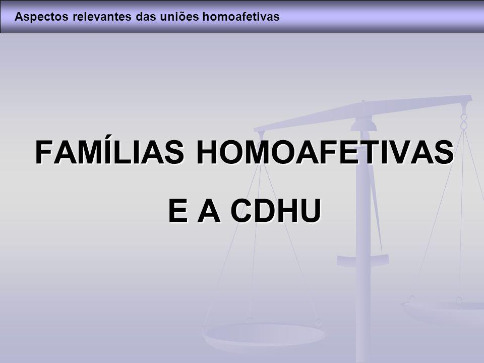 FAMÍLIAS HOMOAFETIVAS E A CDHU
