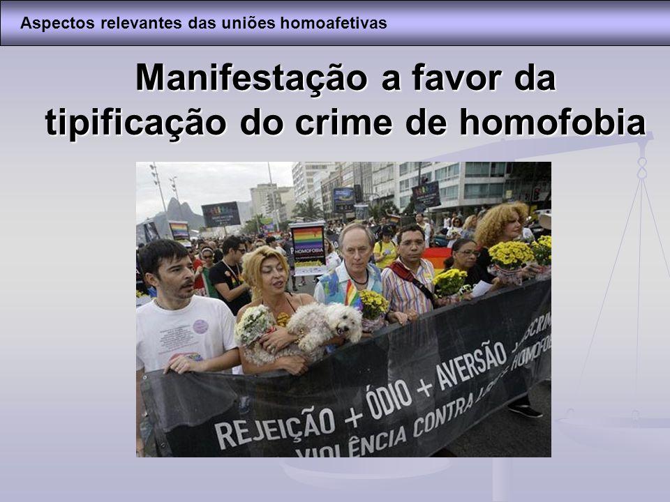 Manifestação a favor da tipificação do crime de homofobia