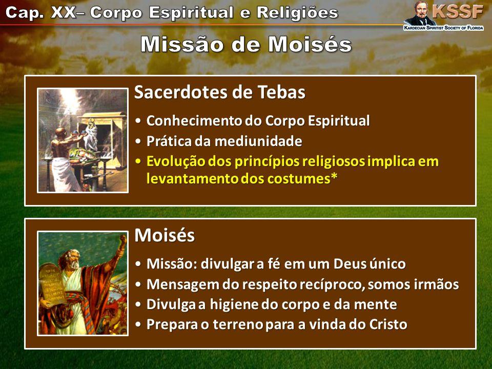 Missão de Moisés Sacerdotes de Tebas Moisés