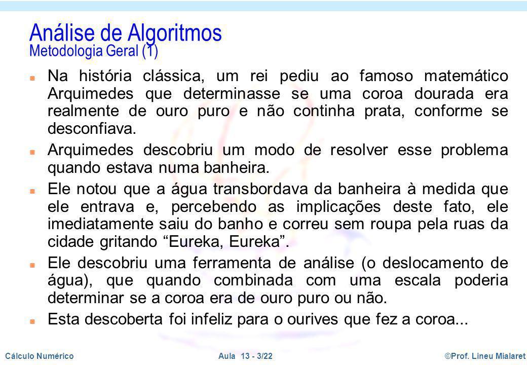 Análise de Algoritmos Metodologia Geral (1)
