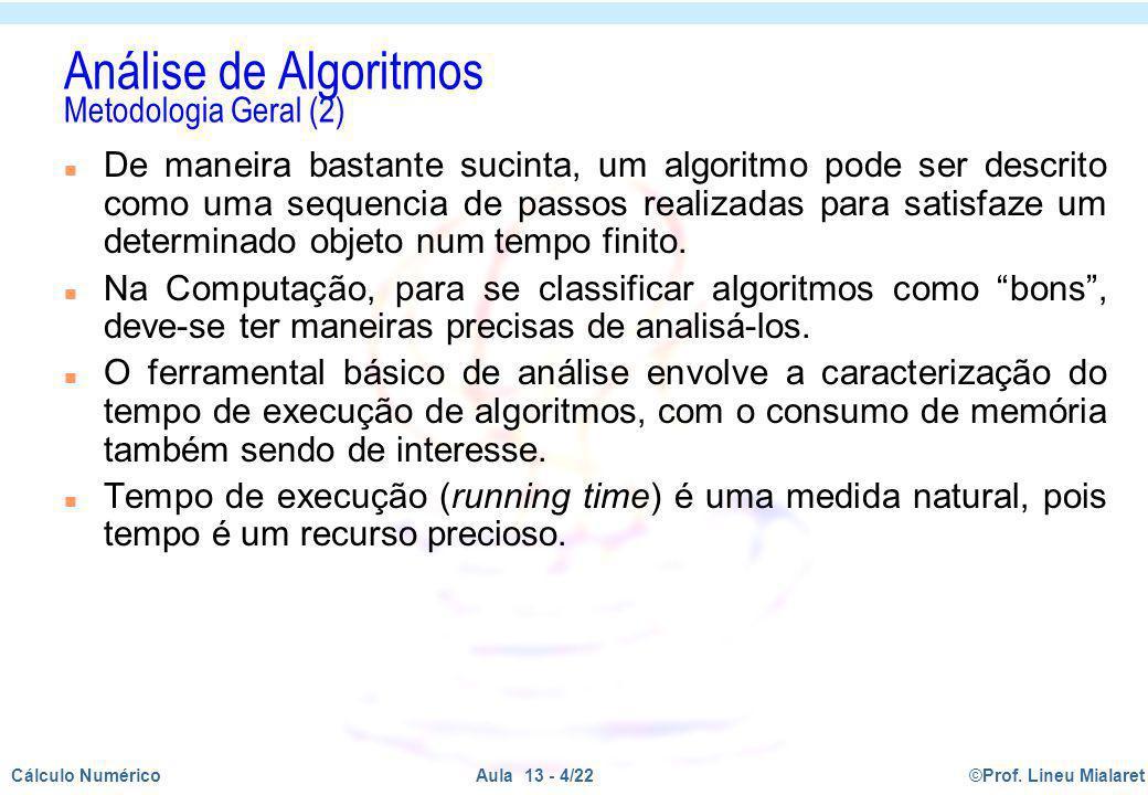 Análise de Algoritmos Metodologia Geral (2)