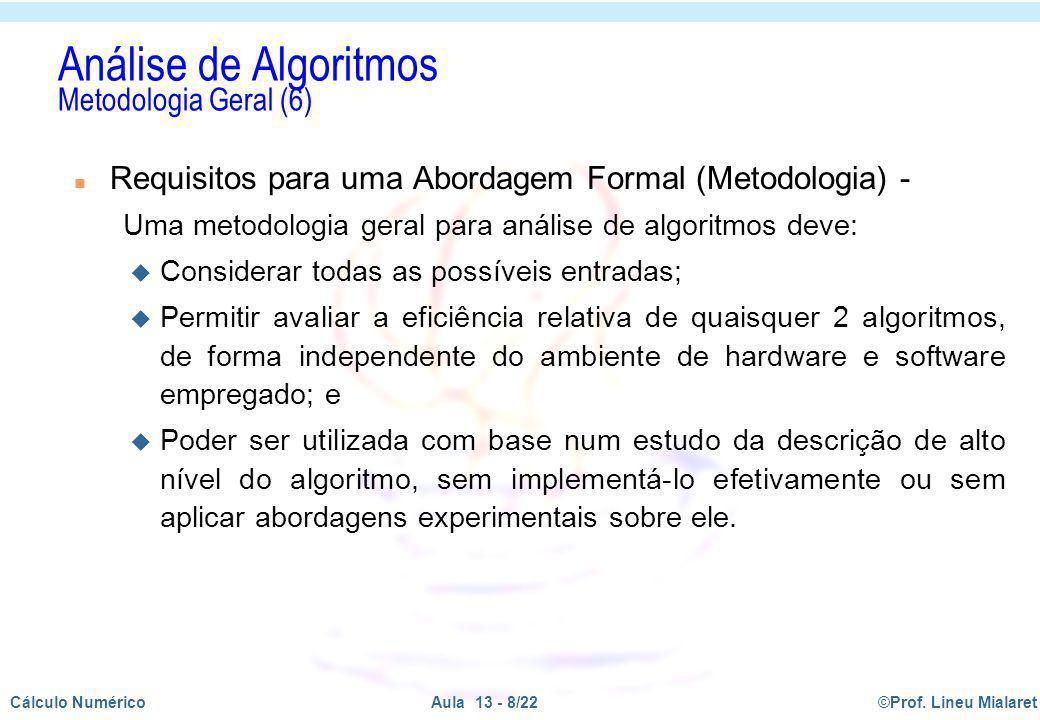 Análise de Algoritmos Metodologia Geral (6)