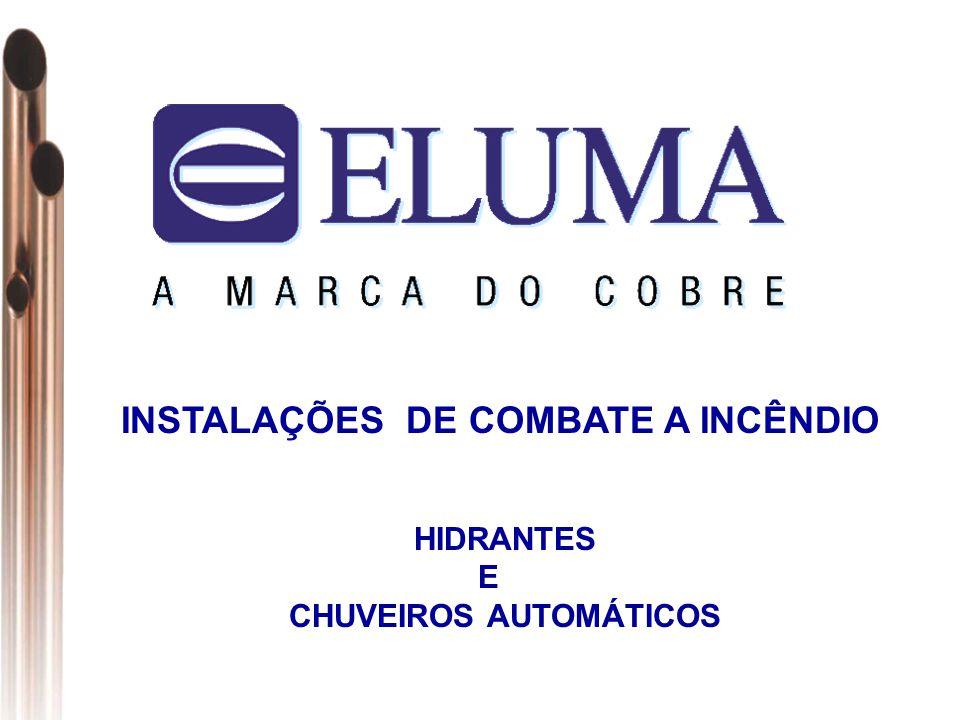 INSTALAÇÕES DE COMBATE A INCÊNDIO CHUVEIROS AUTOMÁTICOS