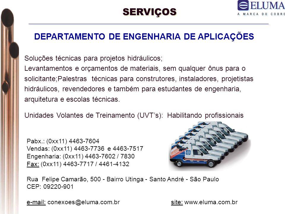SERVIÇOS DEPARTAMENTO DE ENGENHARIA DE APLICAÇÕES
