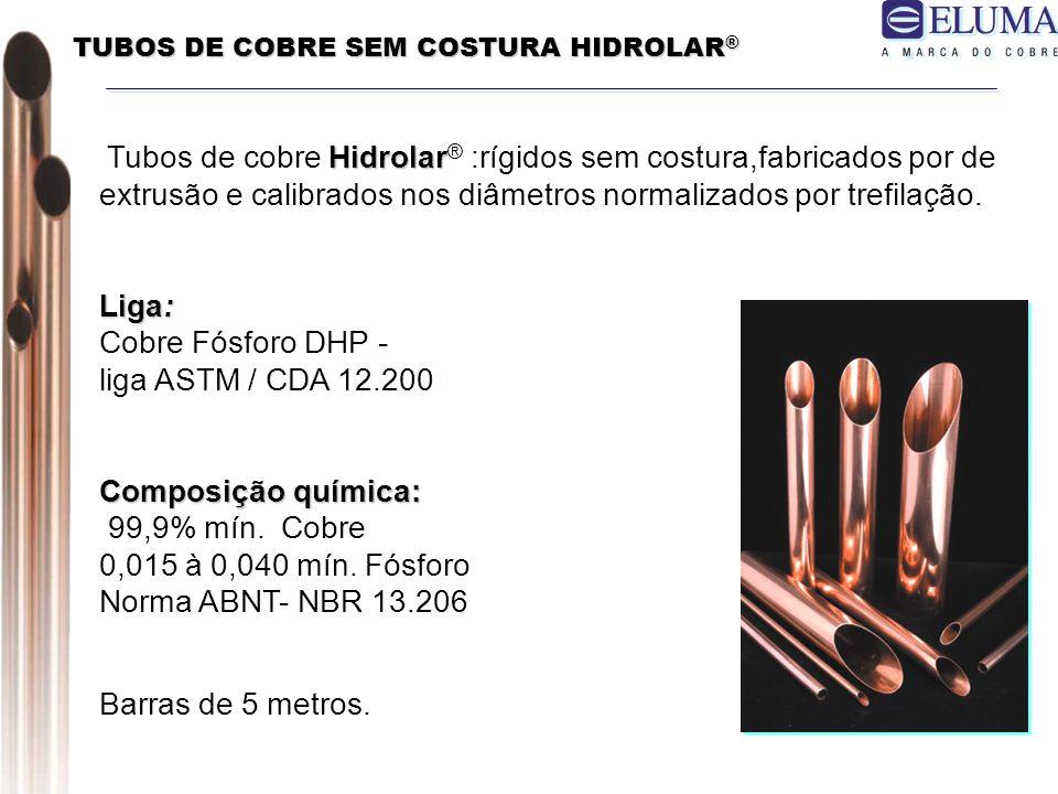 TUBOS DE COBRE SEM COSTURA HIDROLAR®