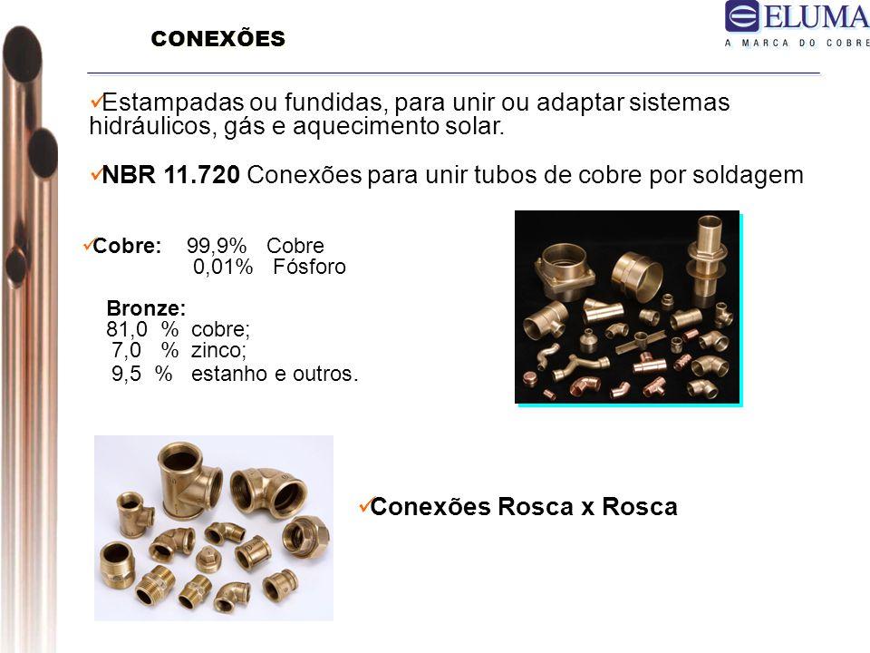 NBR 11.720 Conexões para unir tubos de cobre por soldagem