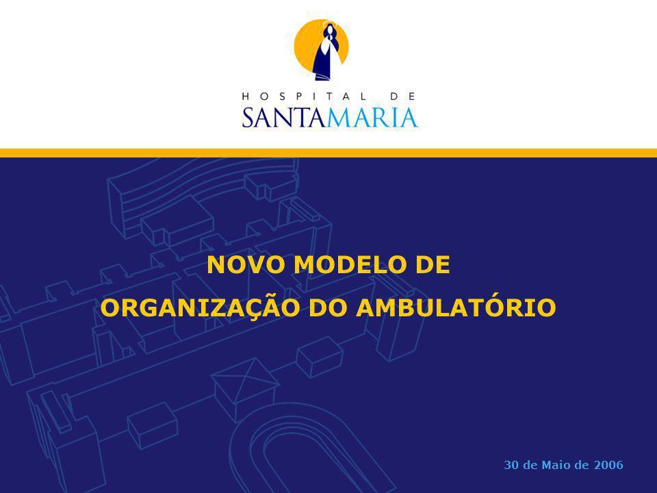 ORGANIZAÇÃO DO AMBULATÓRIO
