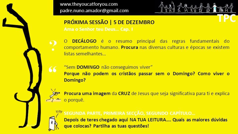 TPC TPC PRÓXIMA SESSÃO | 5 DE DEZEMBRO www.theyoucatforyou.com