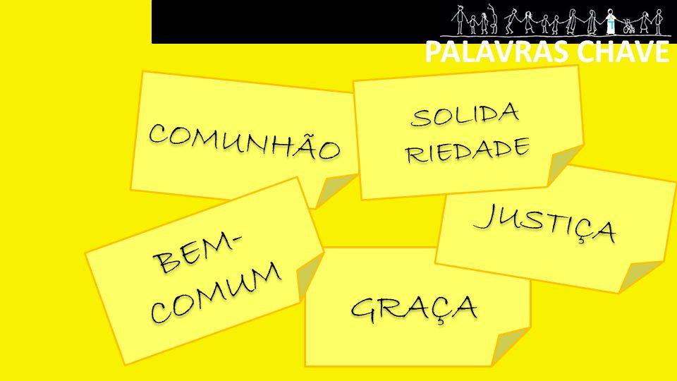 PALAVRAS CHAVE SOLIDA RIEDADE COMUNHÃO JUSTIÇA BEM-COMUM GRAÇA