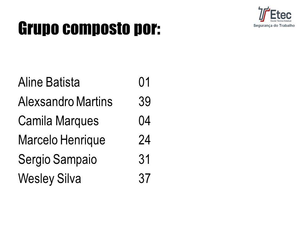 Grupo composto por: Aline Batista 01 Alexsandro Martins 39 Camila Marques 04 Marcelo Henrique 24 Sergio Sampaio 31 Wesley Silva 37